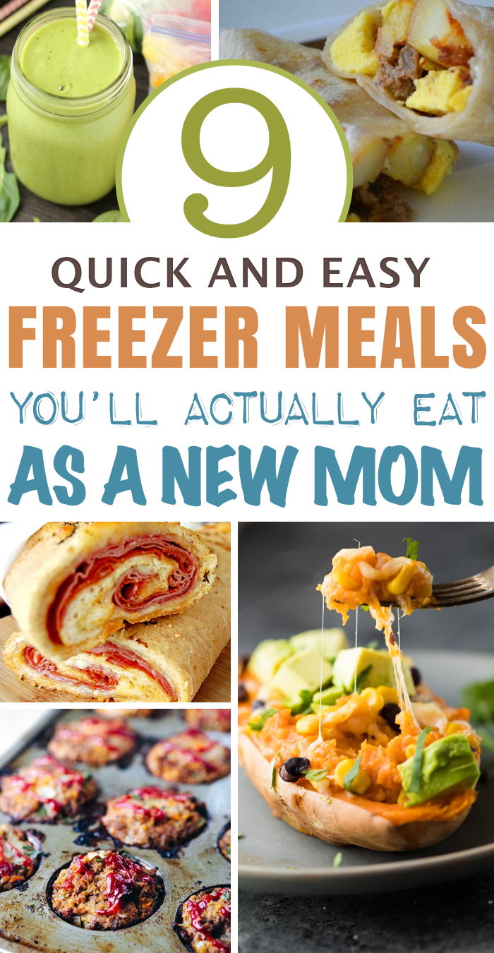 Easy freezer meals to make for when baby comes. Best Part? These meals are EASY TO EAT TOO! Especially when you're got a sleeping baby in your lap!