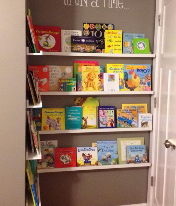 nursery book wall storage ideas