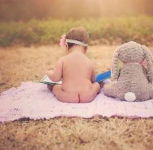 baby bottom and bunny
