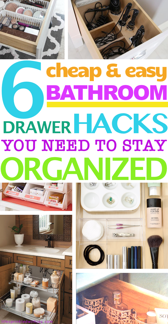 All the best hacks to organize those pesky bathroom drawers!