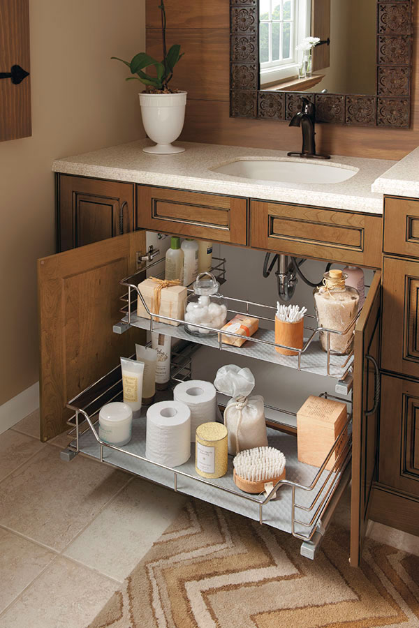 bathroom storage drawers under the sink