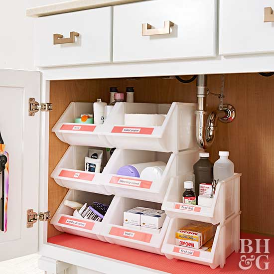 bathroom storage ideas under the sink