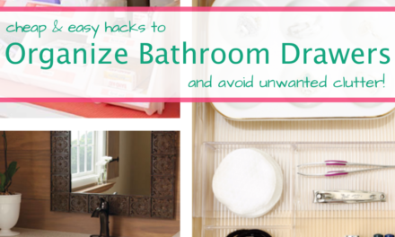 6 Cheap and Easy Bathroom Drawer Hacks To Stay Organized