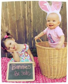 sibling easter photo idea