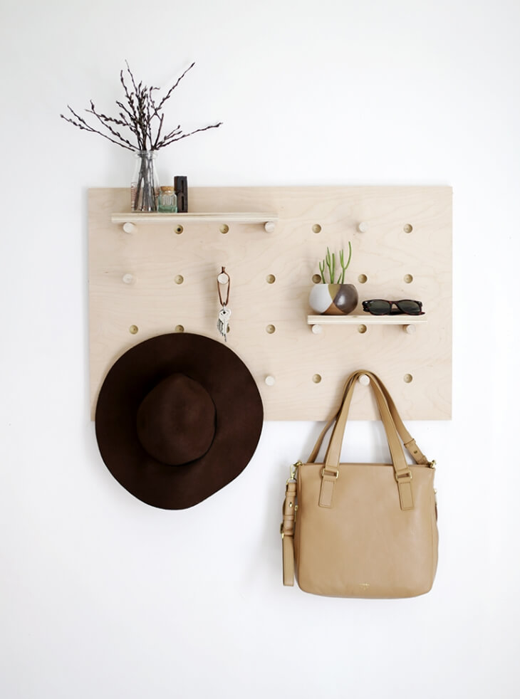 DIY-Pegboard-Hat-Rack-ideas- and catch-all
