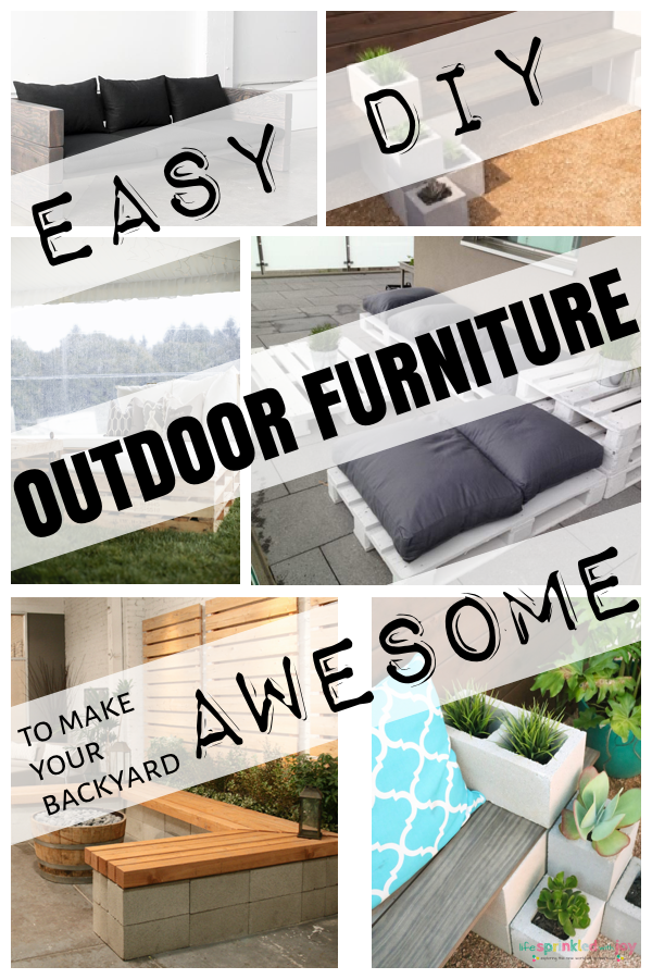 The best outdoor furniture you can DIY and cheaply too! This is what you need to make your backyard, porch, deck, or patio LOOK AWESOME!
