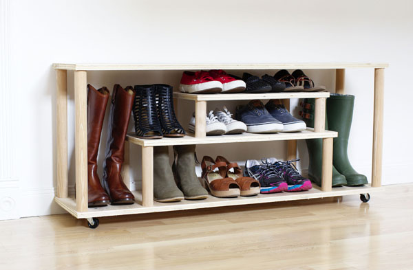 diy shoe storage bench organization