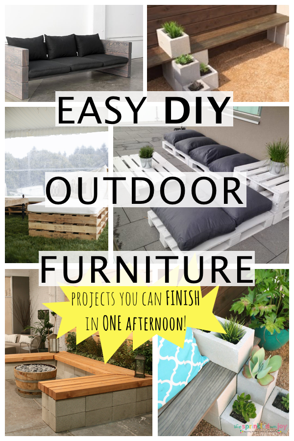 Easy DIY Outdoor Furniture You Can FINISH In A DAY - Life Sprinkled ...