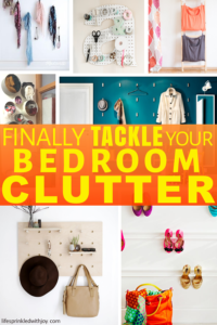This is EXACTLY what I NEED! My bedroom gets so messy fast and these ideas are AWESOME! #decluttering #organizing #bedroom #bedroomorganization #organizingtips #homeideas