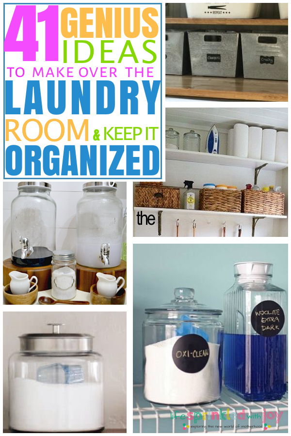genius ideas to makeover your laundry room