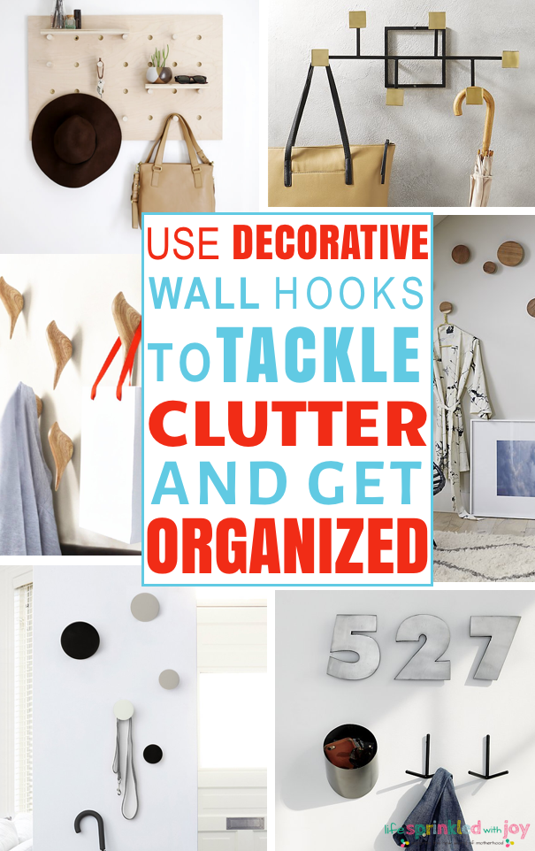 hooks for storage decluttering the house home organization