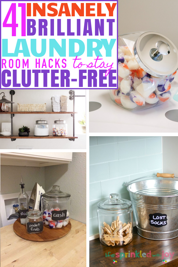 insanely brilliant ways to keep your laundry room clutter-free