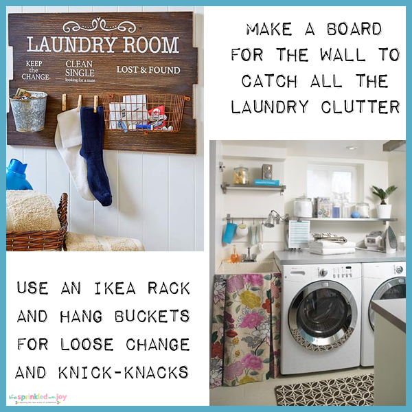 laundry catch all organization