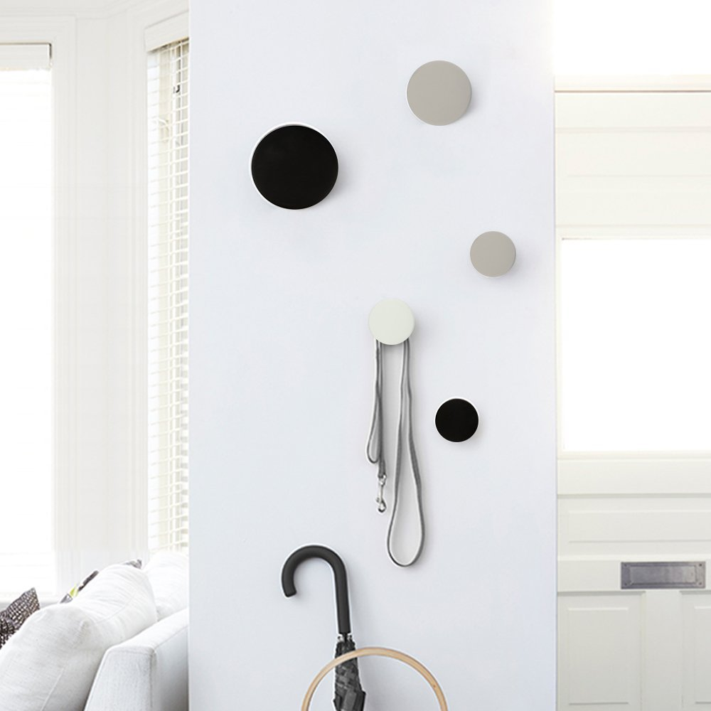 minimalist coat hooks wall display