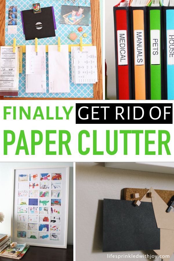 This is the easiest approach to getting rid of all those papers that clutter up your home! Find ideas to sort junk mail, manage important papers, and sift through sentimental items in a way that will FINALLY get it all organized! #organizing #clutter #declutter #decluttering #homecleaning #cleaningtips #organization #organizingideas #paperclutter #crafts #diy #deskorganization #officeorganization #junkmail #cluttersolutions #organizationtips #homeideas #homemaking