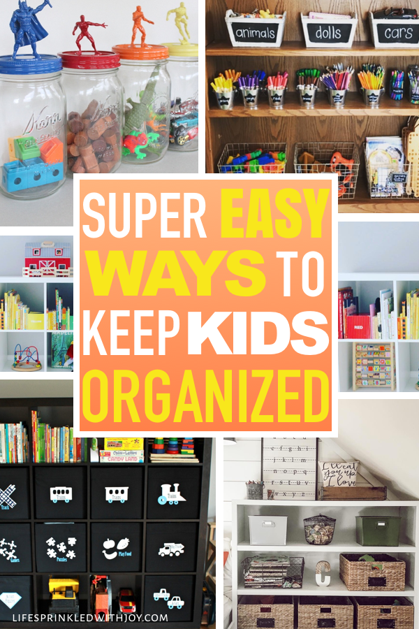 Keep your kids organized and teach them to put up after themselves with these amazing ideas! Check out these super easy tips to avoid toy clutter and all the kid stuff and FINALLY have an organized home you can ENJOY! #toys #toystorage #organizing #playroom #playroomorganization #baskets #kidsorganization #homeideas #decluttering #chores #toystorageideas