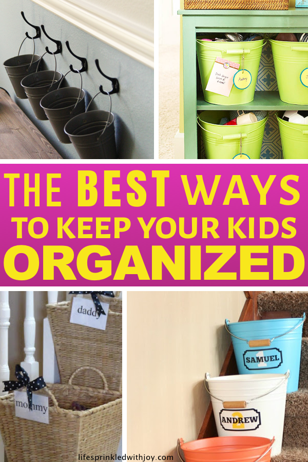 Keep your kids organized and teach them to put up after themselves with these amazing ideas! Check out these super easy tips to avoid toy clutter and all the kid stuff and FINALLY have an organized home you can ENJOY! #pickingup #clutter #organizing #kids #homeorganizationideas #homeorganization #homehacks #toystorage #keepingacleanhome #housekeeping #decluttering #cleaningtips #livingroom #entryway