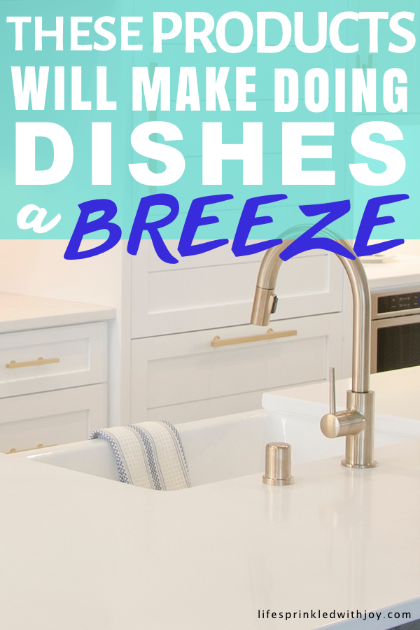 These products will make doing the dishes so much easier—and they're all super cheap too! Stop wasting time staring at that pile of dirty dishes, get what you need to FINALLY make doing dishes a breeze! #cleaning #dishes #doingdishes #cleaninghacks #clean #organize #kitchencleaning #cleaningtips #housework #housekeeping #dirtydishes #householdchores #chores #bestcleaningproducts #kitchensink #sink #silverware #stayathomemomtips #busymom #sponge