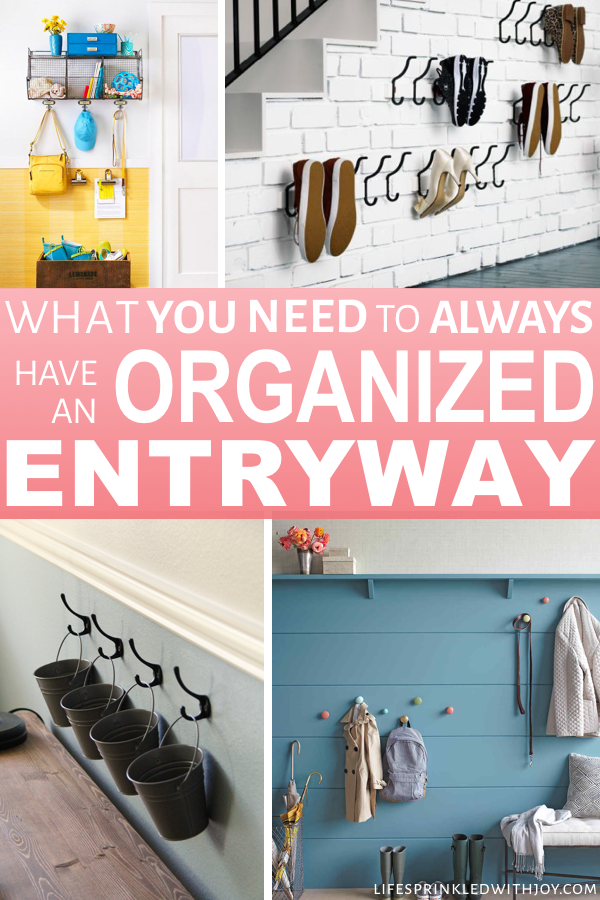 These are the best ideas for staying on top of clutter! Great ideas to keep EVERY ares in your home organized! #homeorganization #organizing #homeideas #homedecor #hometips #decluttering #housekeeping #cleaning #home #easyhomeideas #homeimprovement #clutter #stayingclutterfree #stressfree #busymom #organization #entryway #shoes #shoeorganization #entrywayideas