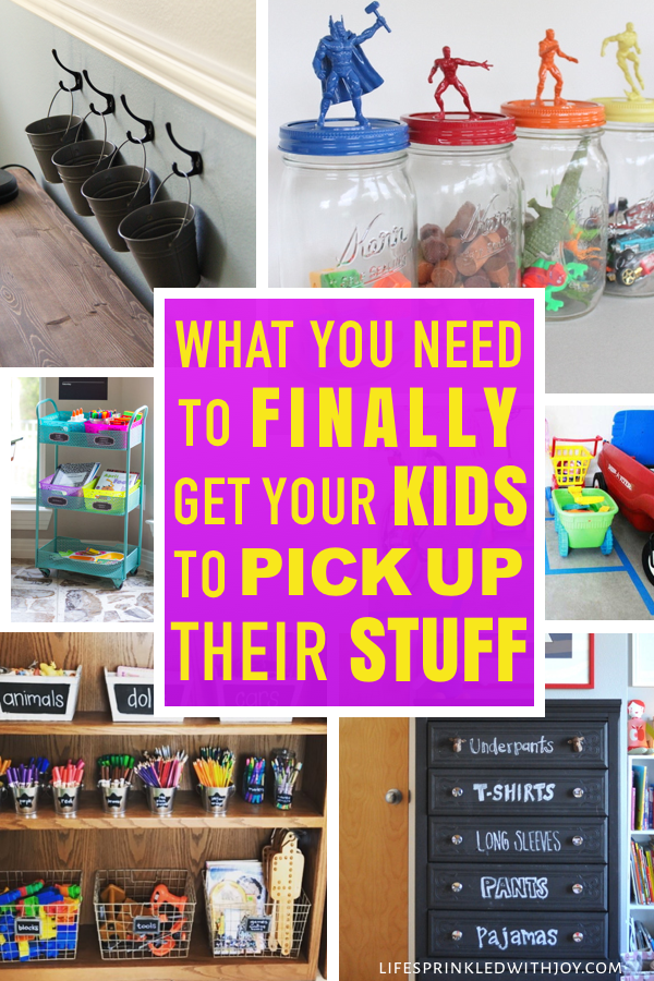 Keep your kids organized and teach them to put up after themselves with these amazing ideas! Check out these super easy tips to avoid toy clutter and all the kid stuff and FINALLY have an organized home you can ENJOY! #kidstoys #toystorage #toystorageideas #garageorganization #garage #garageorganizationideas #kidsbikes #sportinggoods #diy #homeorganization #organizing #decluttering #entrywayorganization #backpacks #laundry #playroom #playroomorganization #keepingkidsorganized