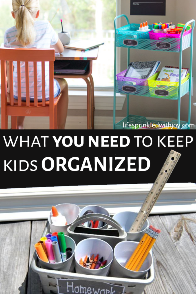Keep your kids organized and teach them to put up after themselves with these amazing ideas! Check out these super easy tips to avoid toy clutter and all the kid stuff and FINALLY have an organized home you can ENJOY! #homeworkstation #homeworkstationideas #schoolwork #homeorganizing #organizing #kids #organization #homeorganization #decluttering #schoolsupplies #backtoschool