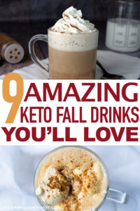 these are the best keto drinks to keep you warm and cozy this fall! #ketodrinkrecipes #fallbeverages #fallrecipes #ketodiet #ketogenic #ketosis #weightloss #dieting #psl #pumpkinspice #pumpkinspiclatte #mocha #coffee #autumn #pumpkin #ketodietrecipes #comfortfood